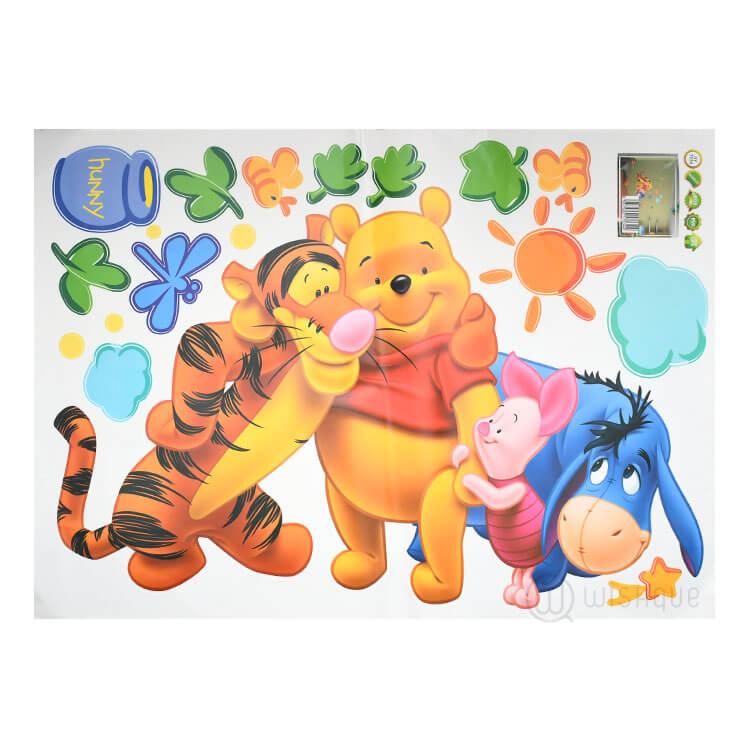 pooh tree animal cartoon wall stickers - wishque | sri lanka's
