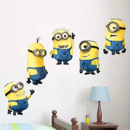 Cartoon Minions Wall Stickers