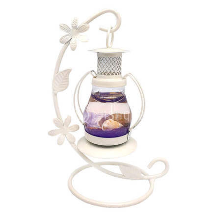 Scented Purple Candle with White Stand