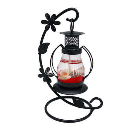 Scented Red Candle with Black Stand