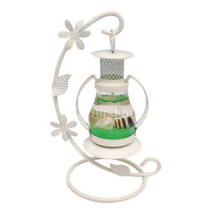Scented Green Candle with White Stand