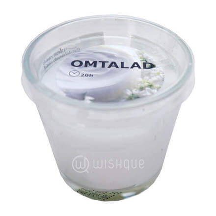 Omtalad Silky White Musk with Roses & Amber Scented Candle