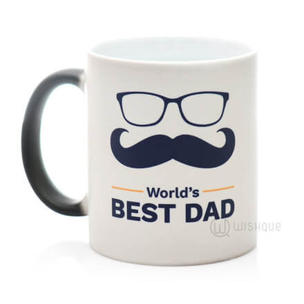Worlds Best Dad Magic Mug
