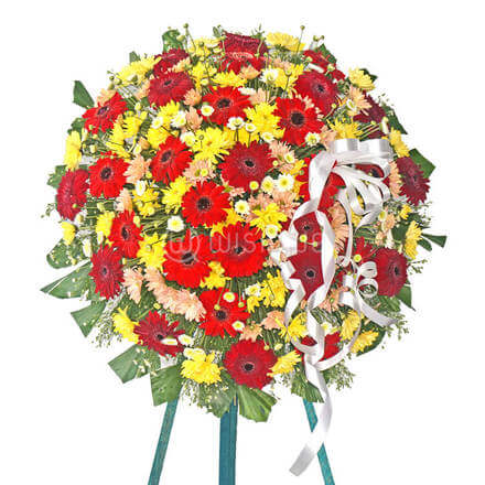 Funeral Wreath- A with Stand