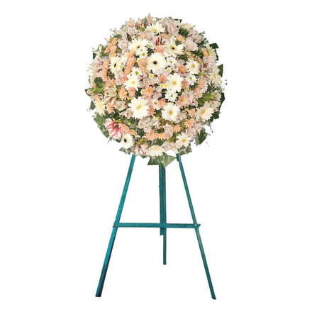 Funeral Wreath- C with Stand