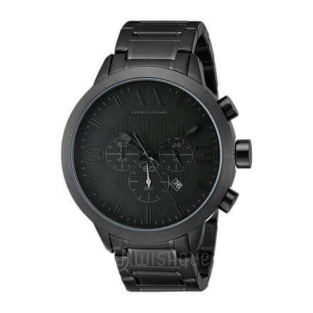 Armani Exchange Men's Black Stainless Steel Quartz Watch