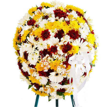 Funeral Wreath- M with Stand