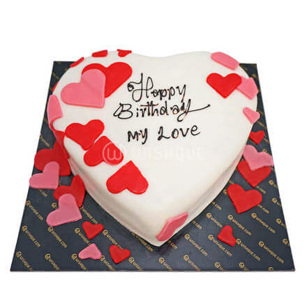 Love Art Ribbon Cake