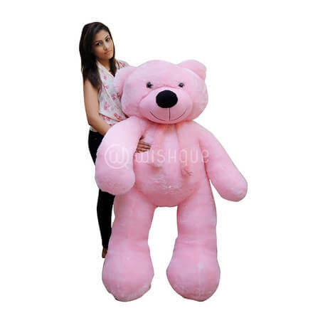 Life Size Teddy Bear Pink-5ft
