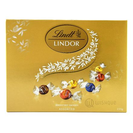 Lindt Lindor Irresistibly Smooth Milk Chocolate Assorted Gift Box 235g