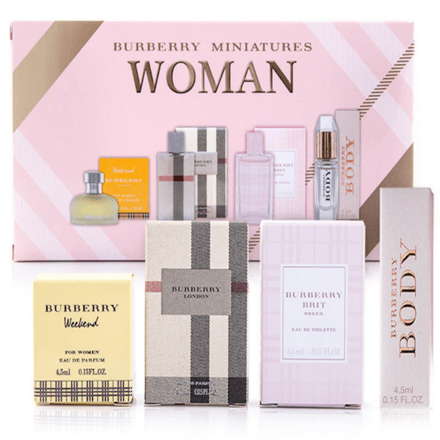 Burberry Miniatures Women's 4piece Gift Set