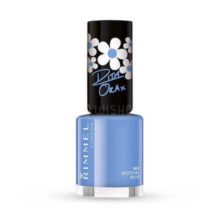 Rimmel 60 Seconds Nail Polish Rita Ora 860 Bestival Blue