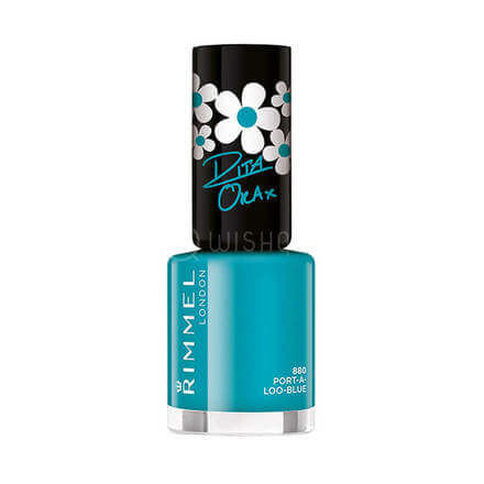 Rimmel London Super Shine Rita Ora Nail Polish - 880 Port-A-Loo-Blue