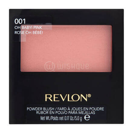 Revlon Powder Blush With Brush 001 Oh Baby! Pink