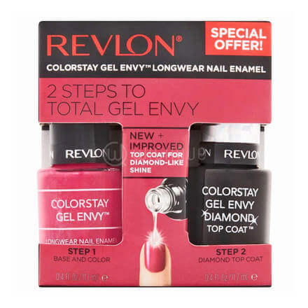 Revlon 2 Step Total Gel Envy 400 royal flush+010 Top Coat