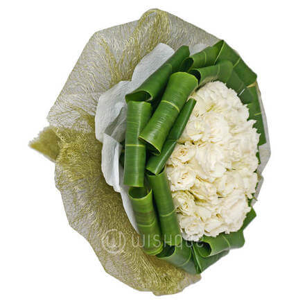 Gorgeous White Rose Bouquet
