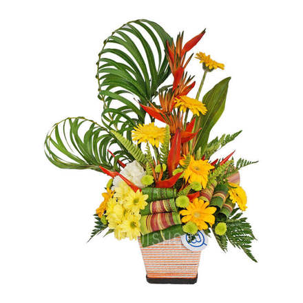 Fresh Tropical Flower Arrangement