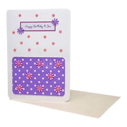 Violet Flower Birthday Card