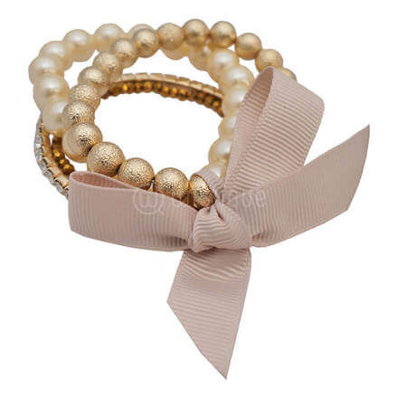 Nickel Free Woman Accessories Bracelet (Pearl & Gold)