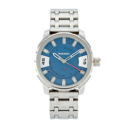 Diesel Stronghold Chronograph Blue Dial Steel Men's Watch