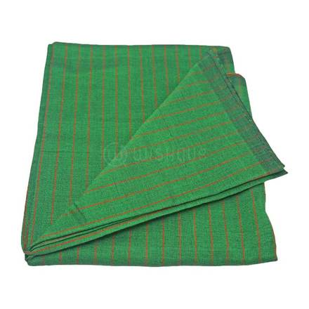 Green with Orange Stripes Sarong