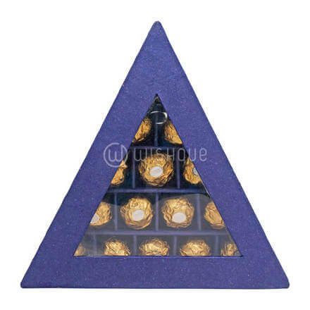 Purple Triangle Rocher Box