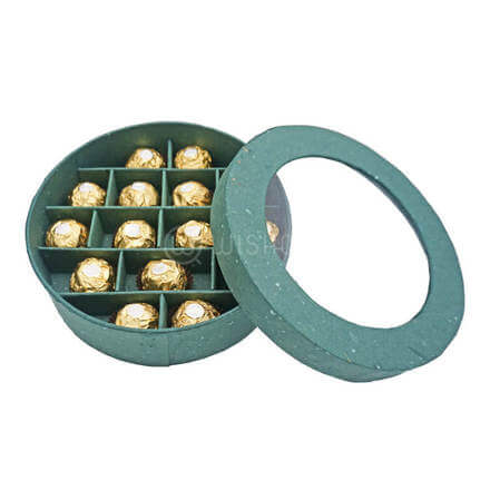 Green Circled Rocher Box