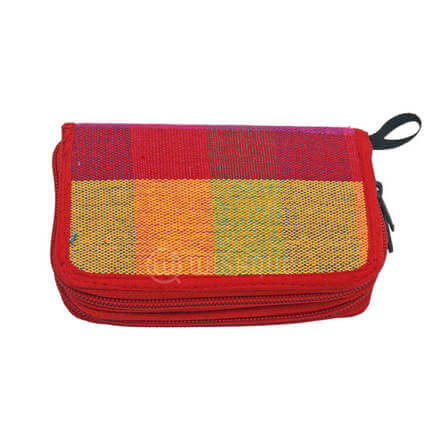 Yellow Mixed Red Color Purse
