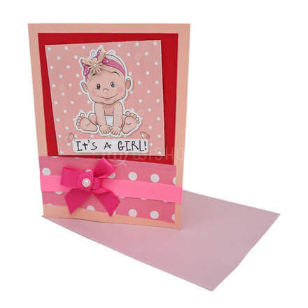 It's a Girl! Pink card