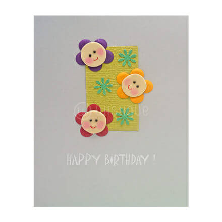 Happy Flowers Birthday Card