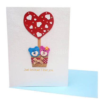 Teddies  and Love Card