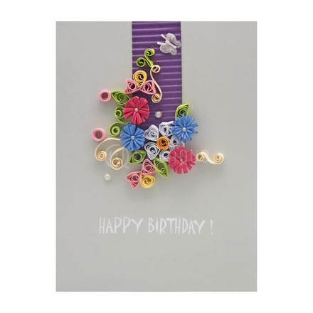 Paper Quiling Birthday Card