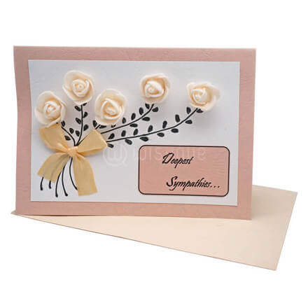 Deepest Sympathies Rose Bouquet Card