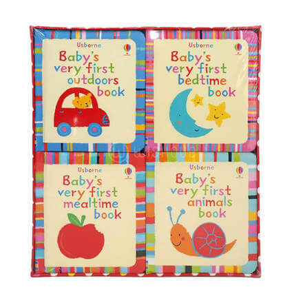 Usborne Baby Very First 4 Books Collection Pack Set
