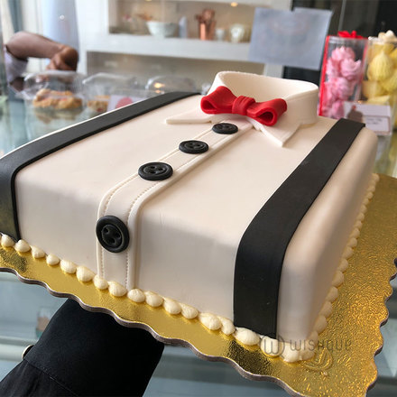 Gentleman Shirt Ribbon Cake