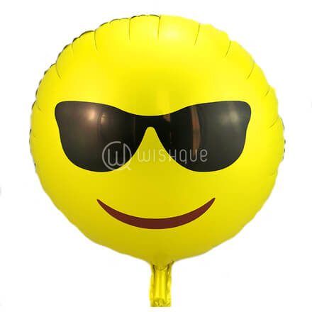 Sunglasses Emoji Foil Balloon