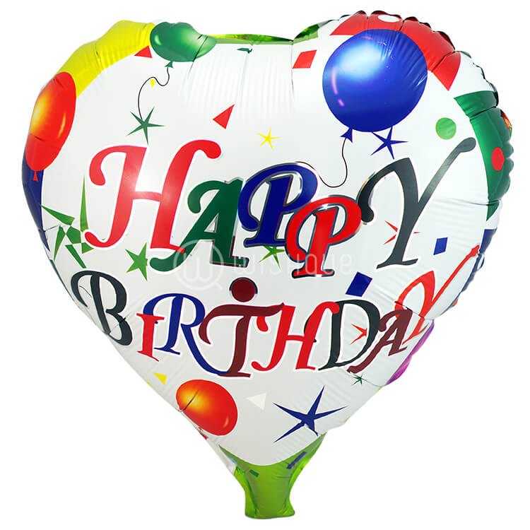 Happy Birthday Heart Foil Balloon