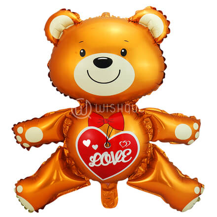 Brown Teddy Love Foil Balloon