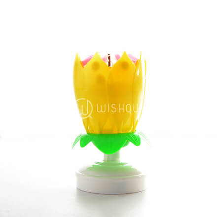 Sparkling Yellow Musical Candle