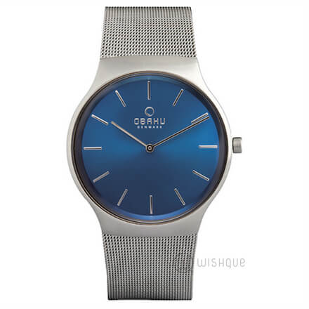 OBAKU Rolig Cyan Blue Dial V178GXCLMC Mens' Watch