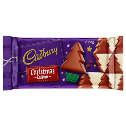 Cadbury Christmas Edition Chocolate Block 100g