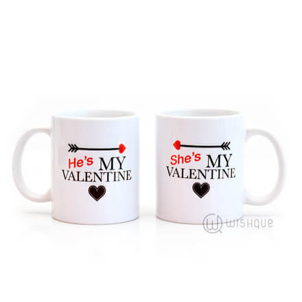 She's My Valentine Couple Mug