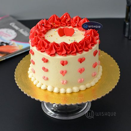 Two Hearts Red Velvet Cake