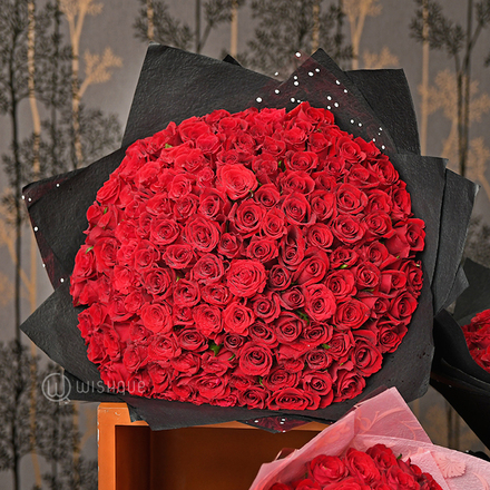 100 Things I Love About You Roses Bouquet