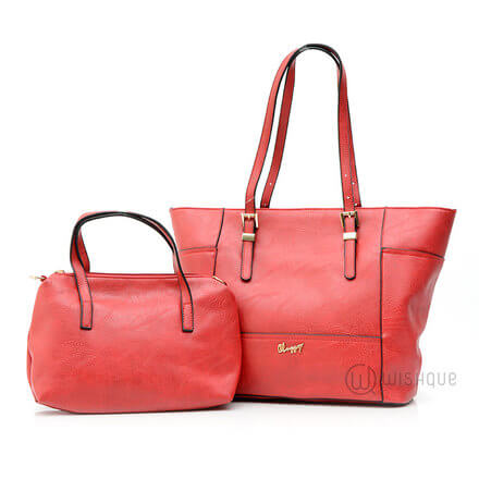 Red Classy Revolution Pair Handbag