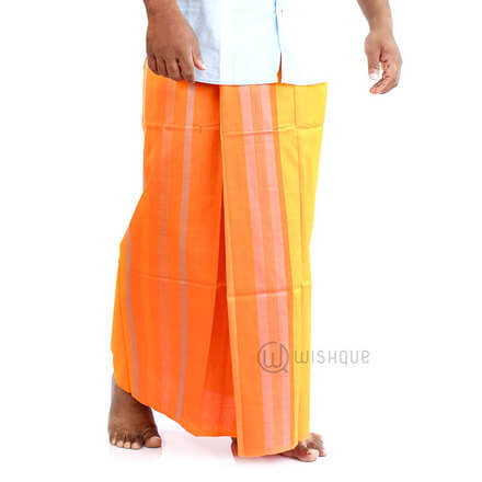 Orange And Yellow Handloom Sarong