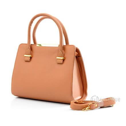 Brown Smart Leather Handbag