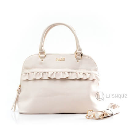 Kate Hill Kali Frill Dome TOTE S16 Cream
