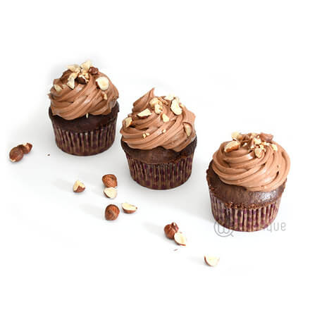 Nutella Cupcake 6 pack