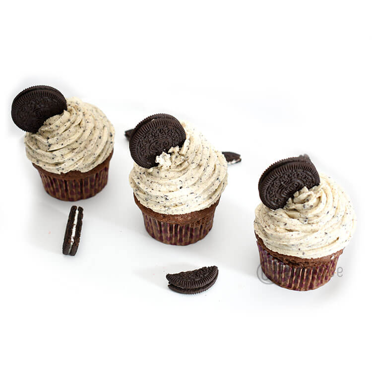 Oreo Cookie Cream Cupcake 6 Pack